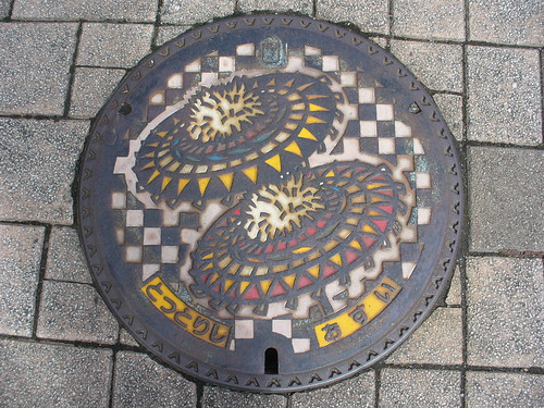 Tottori city, Tottori pref manhole cover(鳥取県鳥取市のマンホール)