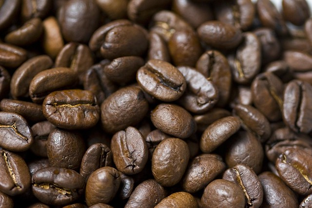 coffee beans light absorption