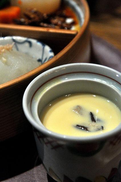 杏子豬排商業午餐-茶碗蒸