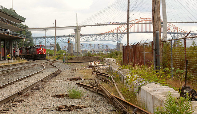 Front Street Train Tracks New Westminster, BC