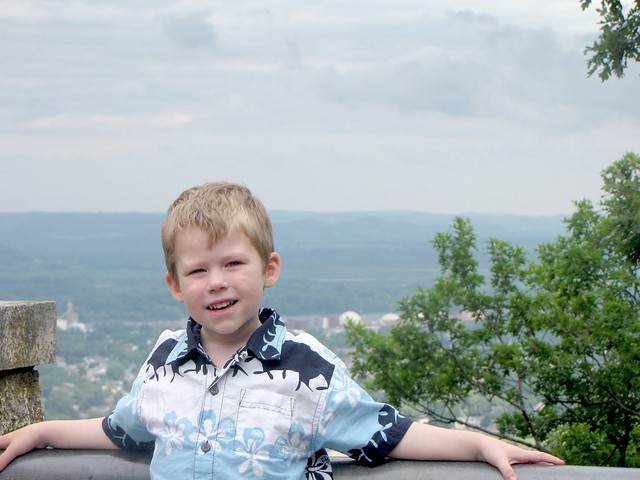 Benjamin on top of Winona at Garvin Heights