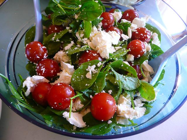 Spinach, tomato and feta salad | Flickr - Photo Sharing!