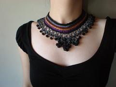 Globular Cluster ... Freeform Crochet Necklace