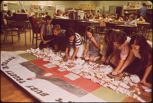 Public School Students Work on Ecology Project, 05/1972