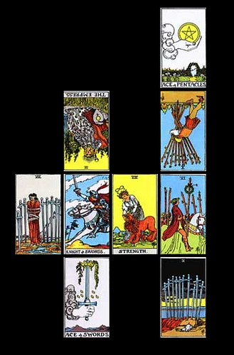 3949071913 7de8813f76 What are the meanings of regular playing cards when they are normal and inverted in a tarot card reading?