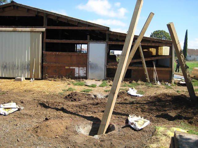 Pole barn addition 2009 flickr photo sharing for Adding onto a pole barn