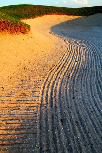 sunset nature colors beautiful lines golf course golfcousre