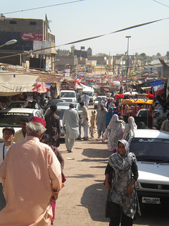 Main bazaar outside Bhittai tomb