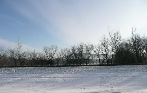 winter sky snow commute