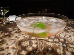 food(0.0), martini(0.0), distilled beverage(1.0), produce(1.0), dish(1.0), mint julep(1.0), drink(1.0), cocktail(1.0), alcoholic beverage(1.0),