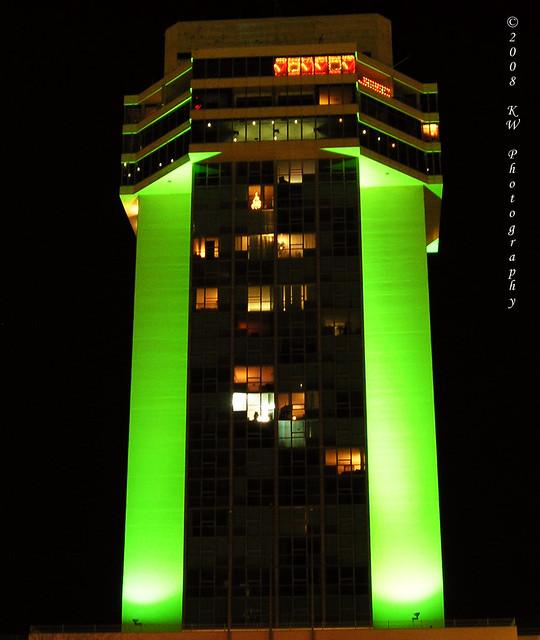 Apartments Downtown Wichita Ks: 250 Douglas Place At Night In Wichita