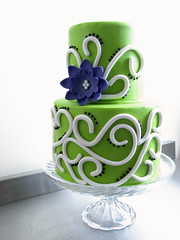 Whimsical Swirls Cake