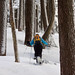 Snowshoeing in the magical forest