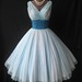 1950's Fred Perlberg Chiffon Prom dress