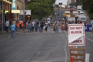 Do not block lanes