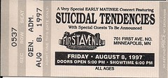 08/08/97 Suicidal Tendencies/Druel/Stray Bullets (Ticket)