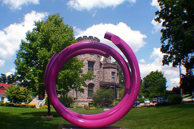 John Clement Art Prize Sculpture at Castle 8-13-093