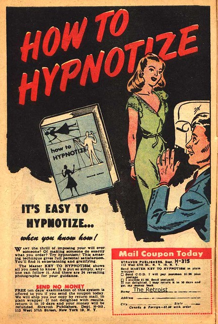 COMIC BOOK VINTAGE AD HOW TO HYPNOTIZE