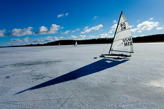 sail, sailing, wing, vehicle, sailing, mast, blue,