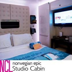 NCL Epic Studio Cabin