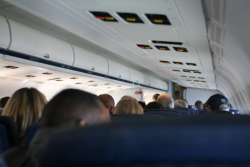 American Airlines airplane interior