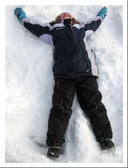 snowboard(0.0), footwear(1.0), clothing(1.0), snow angel(1.0), snow(1.0), outerwear(1.0),