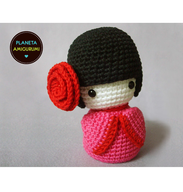 Amigurumi Free Patterns Geisha : kokeshi #1 Explore Maria Handmades photos on Flickr ...