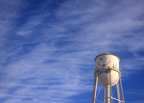 smiling water tower