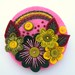 OVER THE RAINBOW - FELT FLOWER BROOCH WITH FREEFORM EMBROIDERY by APPLIQUE-designedbyjane