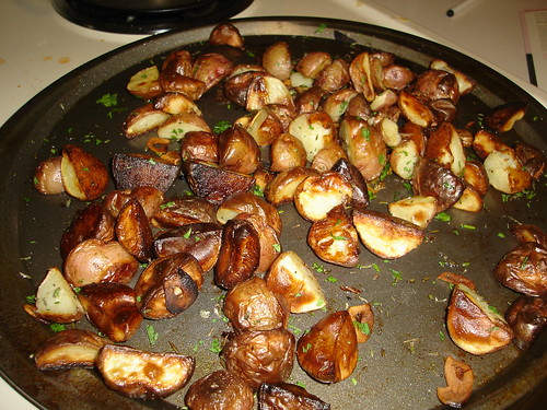 Herb and Garlic Roasted New Potatoes