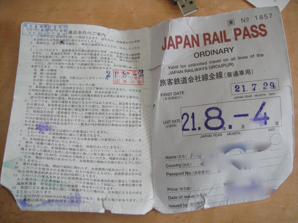 Japan Rail Pass after festival inside