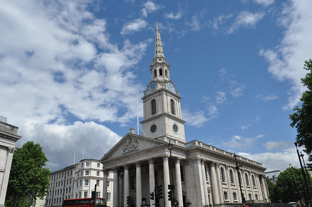 St. Martin-in-the-Fields in London - Flickr image by brianburk9