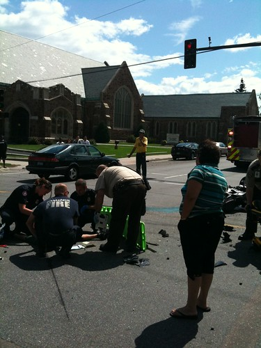 8/21/2009 Car and Motorcycle Accident Lasalle and Groveland