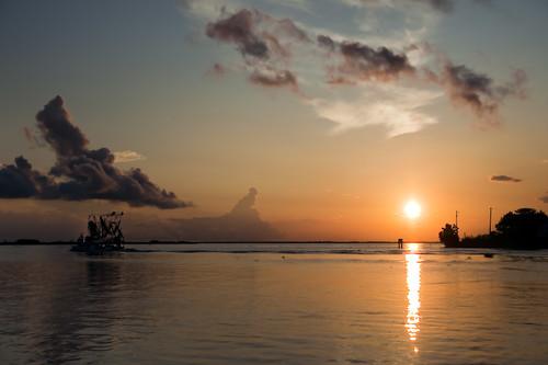 sunset sky sun water clouds boat louisiana warm olympus lafitte bayou zuiko oly e510 zd 1454mm