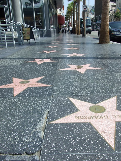 Hollywood walk of fame from Flickr via Wylio