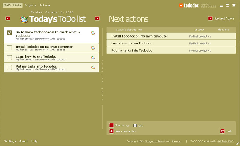 Tododoc - daily ToDo List View