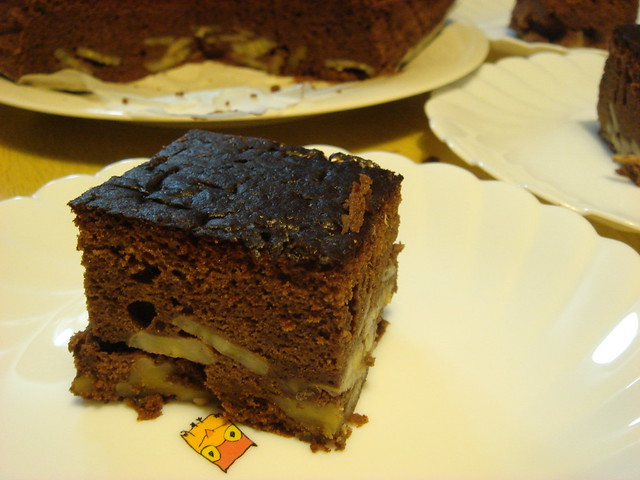 chocolate frosting and chocolate ganache chocolate banana bundt cake ...