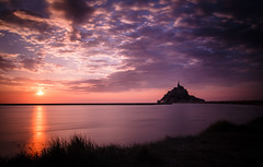 Sunset at Le Mont Saint Michel
