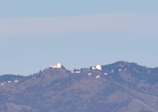Mt. Hamilton from Mt. Umunhum Road