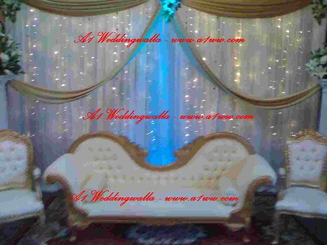 Wedding backdrops Wedding stage decoration by A1 Weddingwalla the
