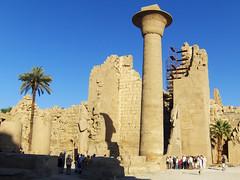 Massive Column, Great Forecourt, Karnak Temples