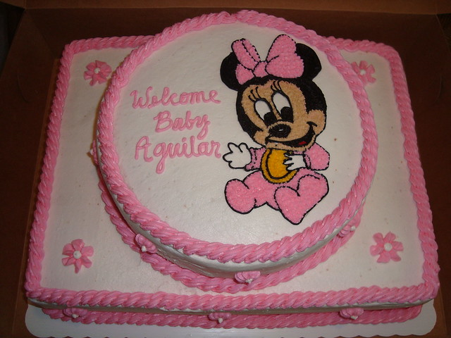 walmart bakery baby shower cakes baby minnie baby shower cake flickr