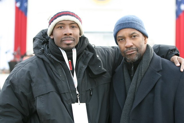 Denzel Washington and I at Barack Obama's Inauguration