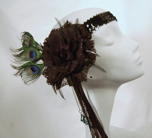 Lovechild Boudoir - peacock feather vintage custom head dress