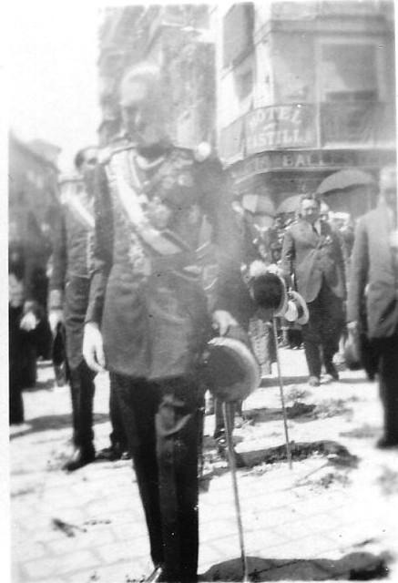 Coronación de la Virgen del Sagrario el 30 de mayo de 1926.  Fotografía de Eduardo Butragueño Bueno