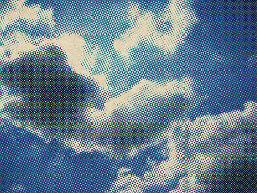 halftone cloud image