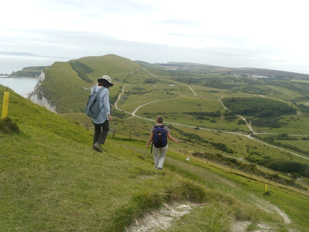 Down a steep bit Corfe Castle to Lulworth Cove (Dorset) A very steep bit