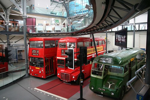 Buses at the London Transport Museum by asierra_re on Flicktr.  Used through Creative Commons.