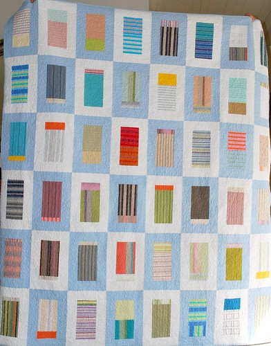 Stripes in frames lap quilt