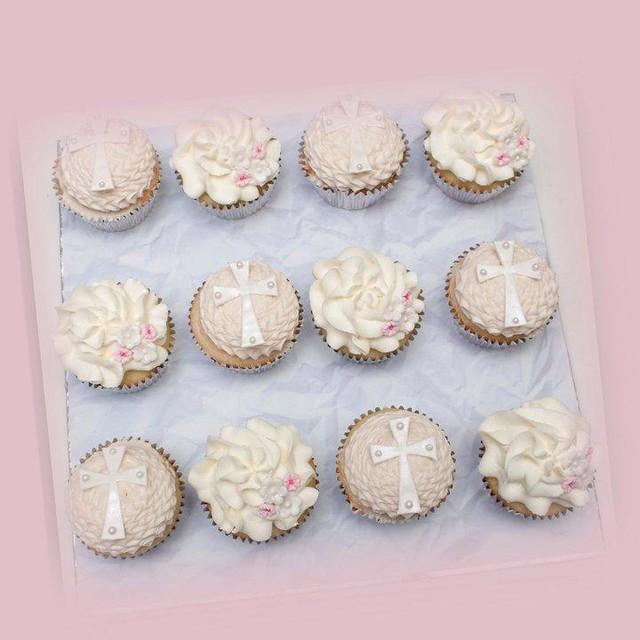 Cupcake Christening Design : Baptism Cupcakes Flickr - Photo Sharing!